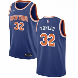 Mens Nike New York Knicks 32 Noah Vonleh Swingman Royal Blue NBA Jersey Icon Edition