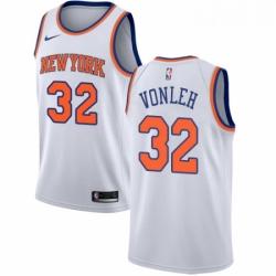 Mens Nike New York Knicks 32 Noah Vonleh Swingman White NBA Jersey Association Edition