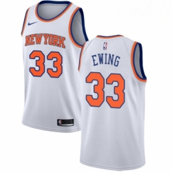 Mens Nike New York Knicks 33 Patrick Ewing Swingman White NBA Jersey Association Edition