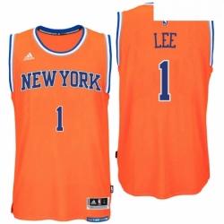 New York Knicks 1 Courtney Lee Alternate Orange New Swingman Jersey