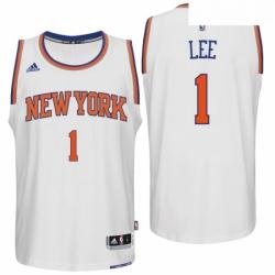 New York Knicks 1 Courtney Lee Home White New Swingman Jersey