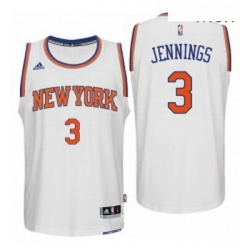 New York Knicks 3 Brandon Jennings 2016 Home White New Swingman Jersey