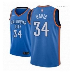Men NBA 2018 19 Oklahoma City Thunder 34 Tyler Davis Icon Edition Blue Jersey