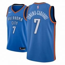 Men NBA 2018 19 Oklahoma City Thunder 7 Timothe Luwawu Cabarrot Icon Edition Blue Jersey