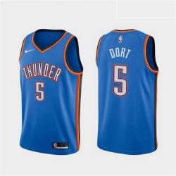 Men Nike Thunders 5 Luguentz Dort Blue Edition Jersey