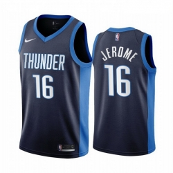 Men Oklahoma City Thunder 16 Ty Jerome Navy NBA Swingman 2020 21 Earned Edition Jersey