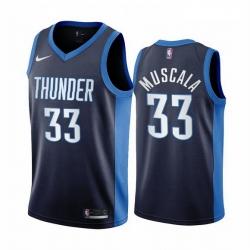 Men Oklahoma City Thunder 33 Mike Muscala Navy NBA Swingman 2020 21 Earned Edition Jersey