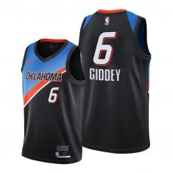Men Oklahoma City Thunder 6 Josh Giddey Black Jersey