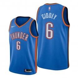 Men Oklahoma City Thunder 6 Josh Giddey Blue NBA Swingman Icon Edition Jersey