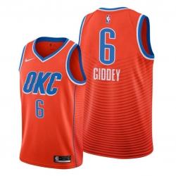 Men Oklahoma City Thunder 6 Josh Giddey Orange NBA Swingman Statement Edition 2019 2020 Jersey