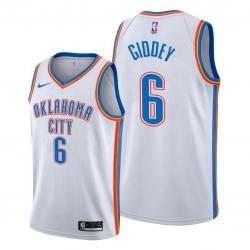 Men Oklahoma City Thunder 6 Josh Giddey White Jersey