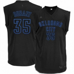 Mens Adidas Oklahoma City Thunder 35 Kevin Durant Swingman Black on Black NBA Jersey