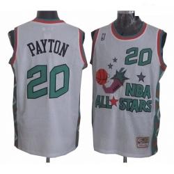 Mens Mitchell and Ness Oklahoma City Thunder 20 Gary Payton Authentic White 1996 All Star Throwback NBA Jersey