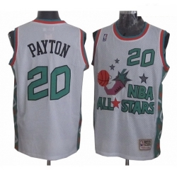 Mens Mitchell and Ness Oklahoma City Thunder 20 Gary Payton Swingman White 1996 All Star Throwback NBA Jersey