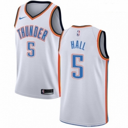 Mens Nike Oklahoma City Thunder 5 Devon Hall Swingman White NBA Jersey Association Edition