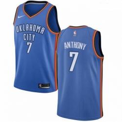 Mens Nike Oklahoma City Thunder 7 Carmelo Anthony Swingman Royal Blue Road NBA Jersey Icon Edition