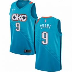 Mens Nike Oklahoma City Thunder 9 Jerami Grant Swingman Turquoise NBA Jersey City Edition