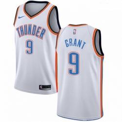 Mens Nike Oklahoma City Thunder 9 Jerami Grant Swingman White Home NBA Jersey Association Edition