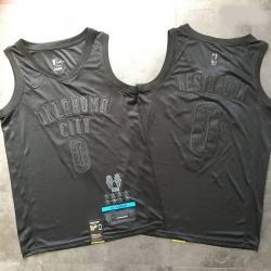 Thunder 0 Russell Westbrook Black Nike Swingman MVP Jersey