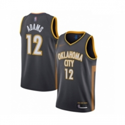 Thunder 12 Steven Adams Charcoal Basketball Swingman City Edition 2019 20 Jersey