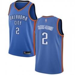 Thunder  2 Shai Gilgeous Alexander Blue Basketball Swingman Icon Edition Jersey