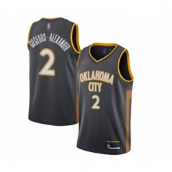 Thunder 2 Shai Gilgeous Alexander Charcoal Basketball Swingman City Edition 2019 20 Jersey