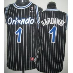 Men Nike Magic 1 Tim Hardway Black Throwback NBA Stitched Jersey