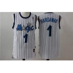 Men Nike Magic 1 Tim Hardway White Throwback NBA Stitched Jersey