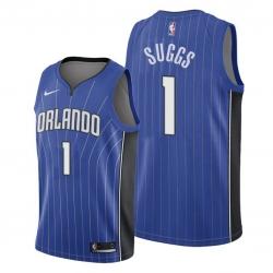 Men Orlando Magic 1 Jalen Suggs 2018 19 Icon Edition Blue NBA Jersey