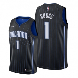 Men Orlando Magic 1 Jalen Suggs Black NBA Swingman Statement Edition Jersey