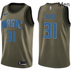 Mens Nike Orlando Magic 31 Terrence Ross Swingman Green Salute to Service NBA Jersey
