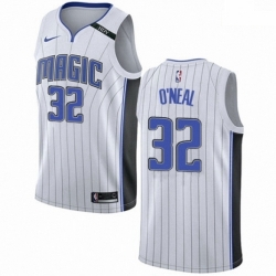 Mens Nike Orlando Magic 32 Shaquille ONeal Authentic NBA Jersey Association Edition