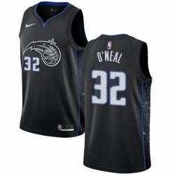 Mens Nike Orlando Magic 32 Shaquille ONeal Swingman Black NBA Jersey City Editi