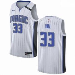 Mens Nike Orlando Magic 33 Grant Hill Authentic NBA Jersey Association Edition