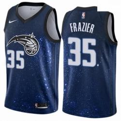 Mens Nike Orlando Magic 35 Melvin Frazier Authentic Blue NBA Jersey City Edition