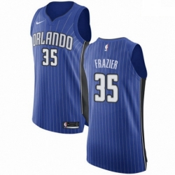 Mens Nike Orlando Magic 35 Melvin Frazier Authentic Royal Blue NBA Jersey Icon Edition