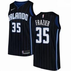 Mens Nike Orlando Magic 35 Melvin Frazier Swingman Black NBA Jersey Statement Edition