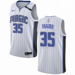 Mens Nike Orlando Magic 35 Melvin Frazier Swingman White NBA Jersey Association Edition