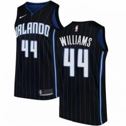 Mens Nike Orlando Magic 44 Jason Williams Authentic Black Alternate NBA Jersey Statement Edition