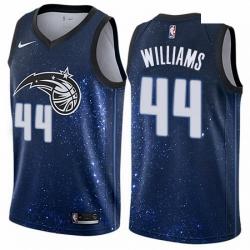 Mens Nike Orlando Magic 44 Jason Williams Authentic Blue NBA Jersey City Edition