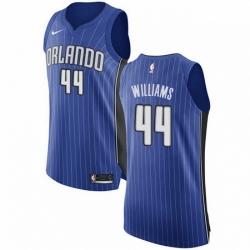 Mens Nike Orlando Magic 44 Jason Williams Authentic Royal Blue Road NBA Jersey Icon Edition