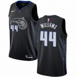Mens Nike Orlando Magic 44 Jason Williams Swingman Black NBA Jersey City Edition