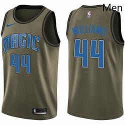 Mens Nike Orlando Magic 44 Jason Williams Swingman Green Salute to Service NBA Jersey