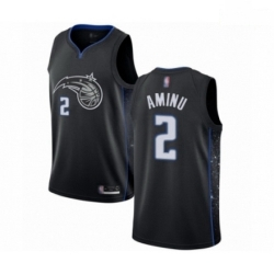 Mens Orlando Magic 2 Al Farouq Aminu Authentic Black Basketball Jersey City Edition