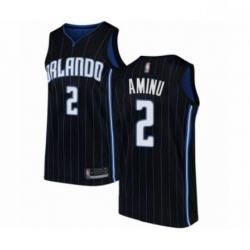 Mens Orlando Magic 2 Al Farouq Aminu Authentic Black Basketball Jersey Statement Edition
