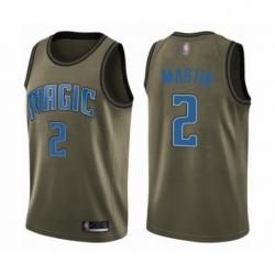 Mens Orlando Magic 2 Jarell Martin Swingman Green Salute to Service Basketball Jersey