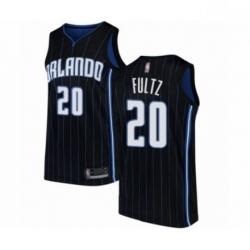 Mens Orlando Magic 20 Markelle Fultz Authentic Black Basketball Jersey Statement Edition