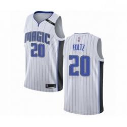 Mens Orlando Magic 20 Markelle Fultz Authentic White Basketball Jersey Association Edition