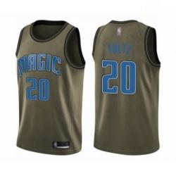 Mens Orlando Magic 20 Markelle Fultz Swingman Green Salute to Service Basketball Jersey