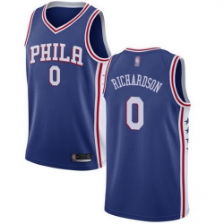 76ers  0 Josh Richardson Blue Basketball Swingman Icon Edition Jersey
